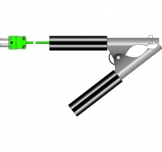 ETI-133-040  pipe clamp probe for pipes from Ø6 to Ø30 mm maximum K thermocouple