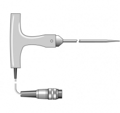 ETI-170-169  heavy duty penetration probe with white T-shaped handle Ø4 x 100 mm