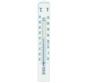 ETI-803-229  175 mm traditional spirit-filled room thermometer - white