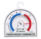 ETI-800-000  Ø70 mm dial bi-metal fridge or freezer thermometer