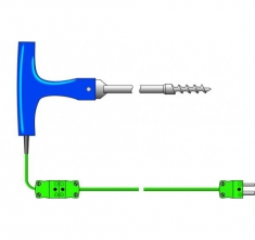 ETI-133-175 K-Type corkscrew penetration probe