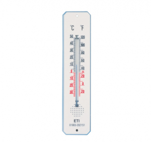 ETI-803-232  195 mm traditional spirit-filled room thermometer - white